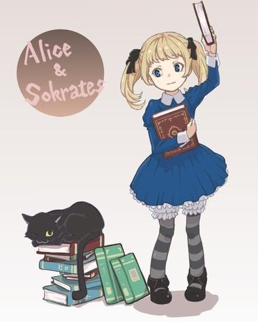 オーディンスフィア 本を取るアリスと休む猫 画像 壁紙