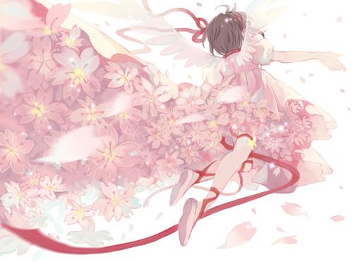 CCさくら カードキャプターさくら 木之本桜 後姿 1200 891 画像 壁紙