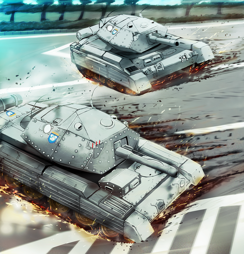 ガールズ&パンツァー劇場版 巡航戦車クルセイダーMkⅢ 戦車ドリフト 画像 壁紙