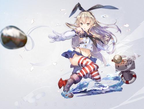 艦隊これくしょん 艦これ 島風(しまかぜ) ぜかまし 高画質 画像 イラスト 壁紙