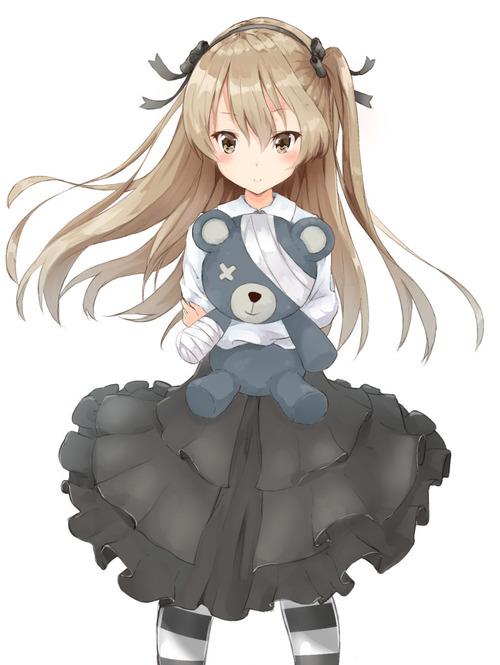 girls_und_panzer GuP ガールズ&パンツァー(ガルパン) 島田愛里寿 しまだありす 飛び級大学生 ロリっ子 ぬいぐるみ ボコ 画像 壁紙