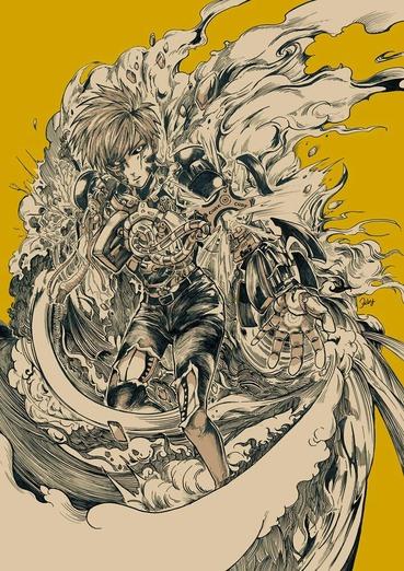 ワンパンマン one_punch_man genos ジェノス サイボーグ pc スマホ 縦長 画像 壁紙