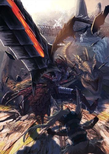 モンスターハンター monster hunter モンハン MH レウス 防具 ジンオウ オトモ ティガレックス アカム 大剣 画像 壁紙