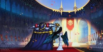 オーバーロード overlord モモンガ アルベド アインズ ウール ゴウン 壁紙 画像