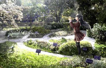 アニメ anime 2次 二次 響けユーフォニアム hibike euphonium 高坂麗奈 こうさかれいな kousaka reina 制服 トランペット trumpet 横長 高画質 画像 PC スマホ 壁紙 待ち受け