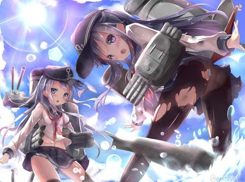 艦隊これくしょん 艦これ 第六駆逐隊 暁 響 雷 電 セーラー服 かわいい イラスト 画像 壁紙