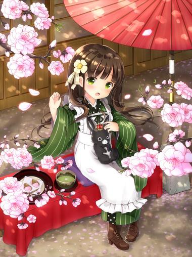 ご注文はうさぎですか? ごちうさ 千夜 ちや 和服 壁紙 画像
