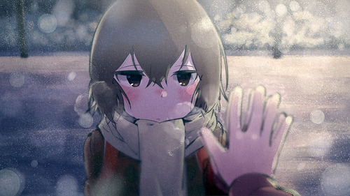 僕だけがいない街(ぼくまち) 手を合わせる雛月加代(ひなづきかよ) マフラー コート 画像 壁紙