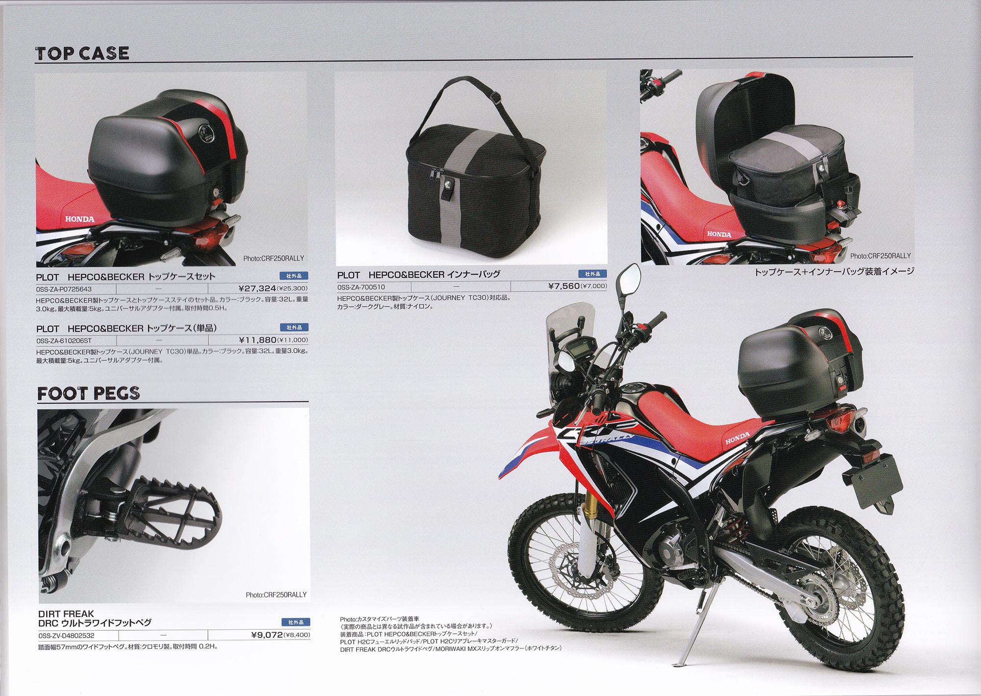 Crf250rallyには旧crf250l Mのキャリアが使えるみたい 個人的バイクまとめブログ