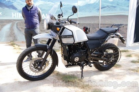 Royal-Enfield-Himalayan-white-front-quarter-unveiled