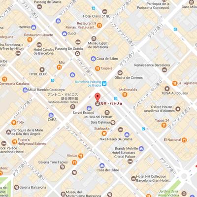 カサ・バトリョのあるグラシア通り