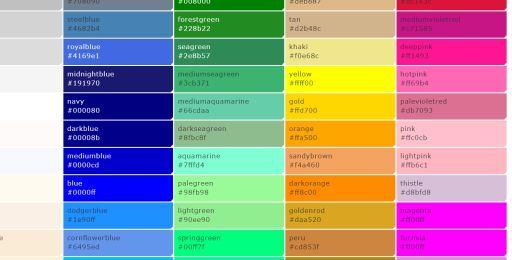 ウェブの色見本