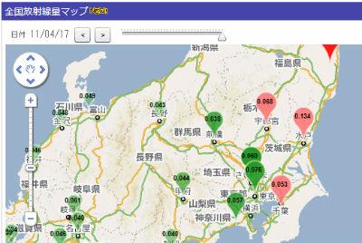 全国の放射線量マップ
