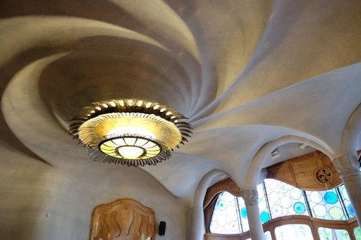 カサ・バトリョの天井の造形