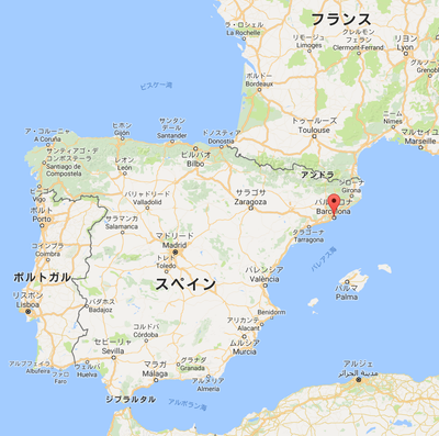 バルセロナの位置