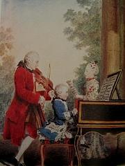 『パリで演奏するモーツァルト親子』