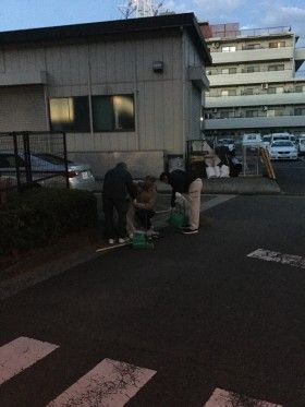 新羽駅前街頭清掃