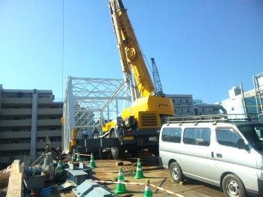 霞橋の架け替え工事