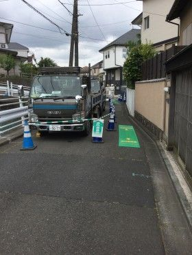 横浜市旭区で水道管を入れ替え