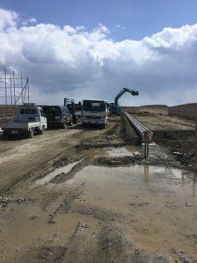 気仙沼で復興工事
