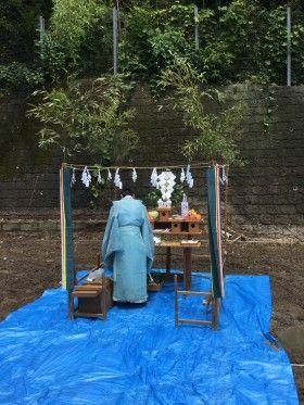 鎌倉市長谷 地鎮祭