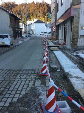 気仙沼市八日町地区で震災復旧工事