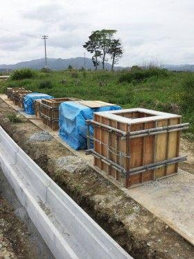 気仙沼で震災復旧工事