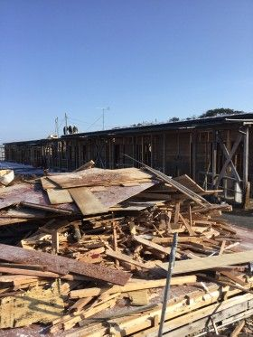 仮設住宅の解体