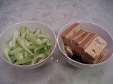 セロリ+豆腐