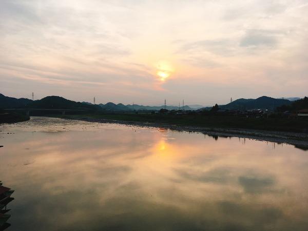 夕方の長良川が綺麗