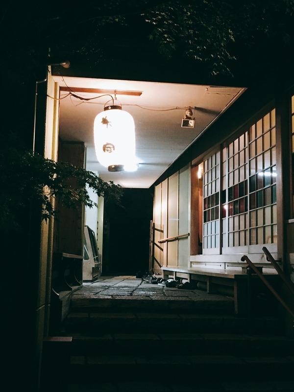 鵜匠の家前