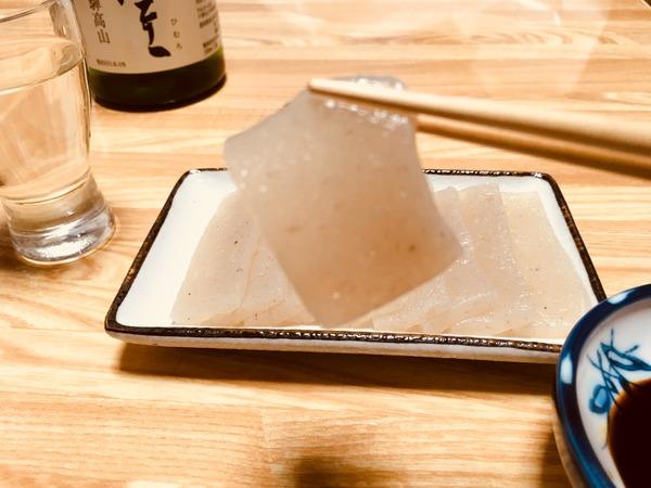 冷酒に合う和らぎ水のような喉ごしこんにゃくと純米大吟醸酒③