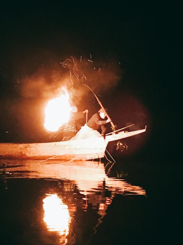 鵜飼かがり火①
