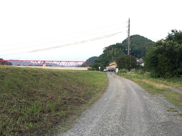 小瀬鵜飼 駐車場への道