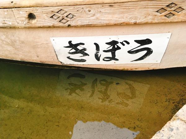 この日乗船した遊覧船「きぼう丸」