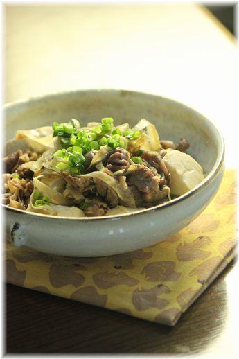 牛ごぼう肉豆腐。