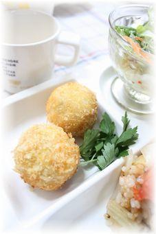 タラモ・コロッケ。 とお昼ご飯。