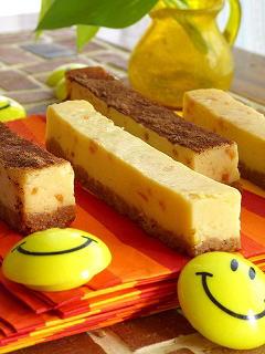 オレンジとコーヒーのスティックチーズケーキ☆