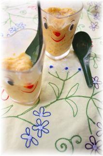 かぼちゃと人参のアイスクリーム。
