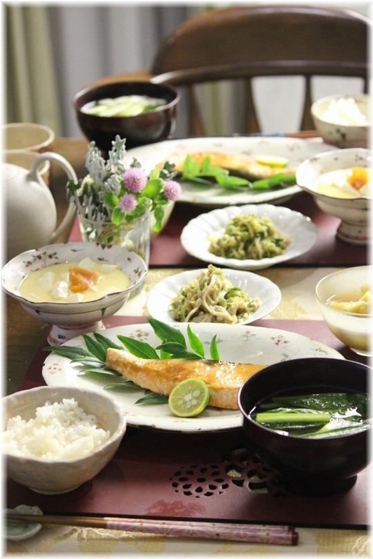 【レシピリンク】秋鮭の味噌バター焼き。と 献立。健やか昼下がり。