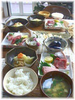 4人でお昼ごはん。