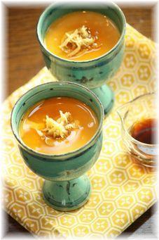 生姜とゴマ醤油の茶碗蒸し。 と献立。