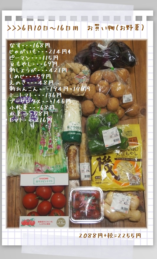 0610~0616お買い物(野菜)