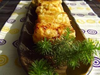 葱の味噌漬けの天ぷら。
