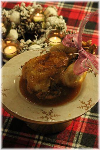 お鍋で作るローストチキン。 と お家クリスマスの献立。