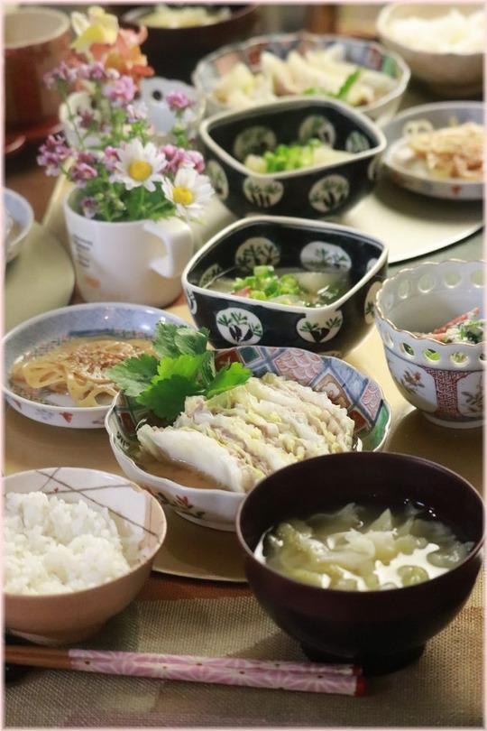 【レシピ・リンク】白菜と豚バラ肉の重ね煮。と 献立。と 計算。