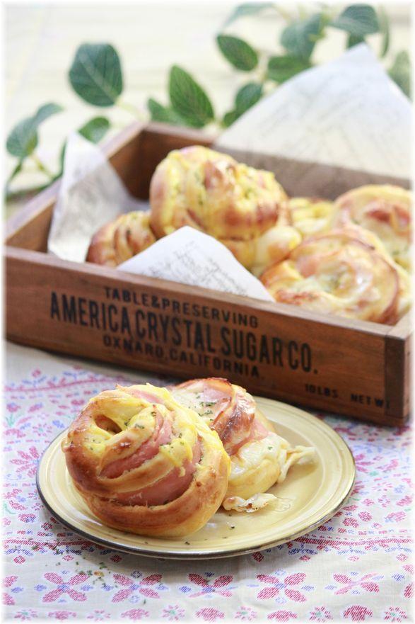 カレーハムマヨ&カレーハムチーズパン。