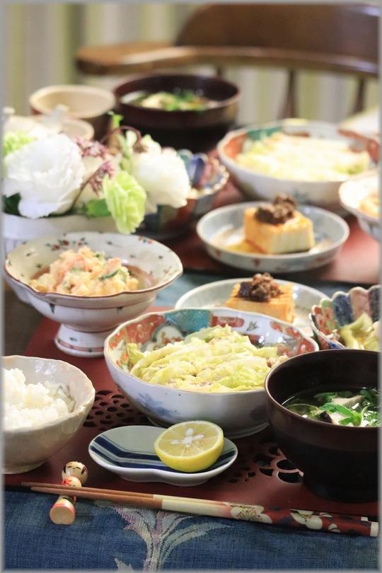 【レシピ】白菜と豚肉のレンチン重ね蒸し。と 献立。と 怖い話。