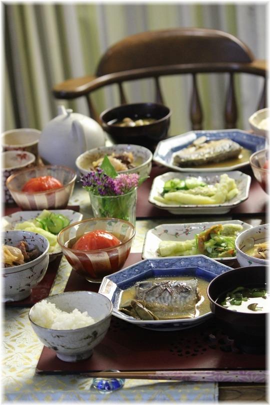 【レシピリンク】鯖の味噌煮。と 献立。と おかえりなさい!!