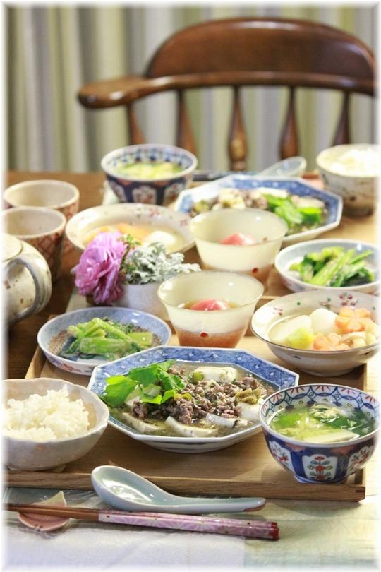 【レシピ】海苔と柚子胡椒の麻婆豆腐。と 献立。と アイネクライネ。